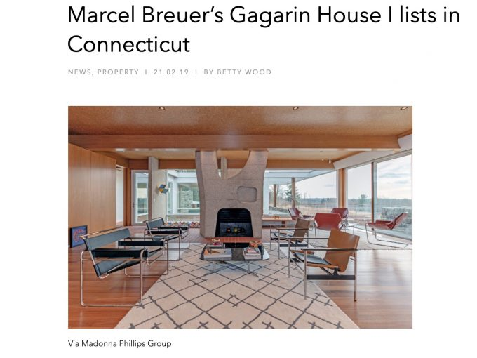 Marcel Breuer's Gagarin House I lists in Connecticut